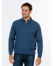 Men's Native World Possum Merino V-Neck Sweater