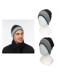 Native World Possum Merino Sports Stripe Beanie