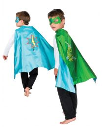 Dress Ups Reversible Hero Cape and Mask Set