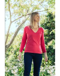 Bamboo 3/4 Sleeve V-Neck Top