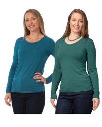 COLOURS TO CLEAR Women's Bamboo Long Sleeve Top
